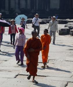 Young Buddist priests, Angkor Wat
