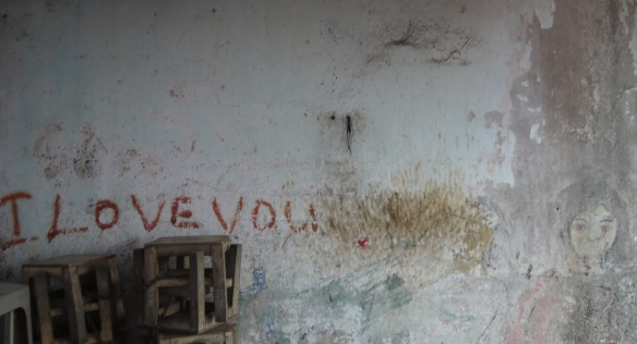 English writing on the wall (in Viet Nam)