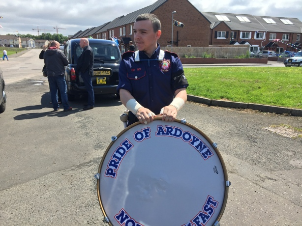 Protestant flute band member