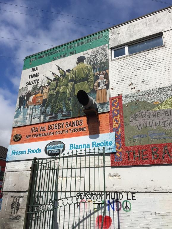 Mural commemorating Bobby Sands