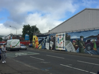 Murals on the Falls Road