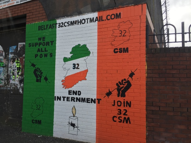 Mural for the 32 County Sovereignty Movement in the Falls