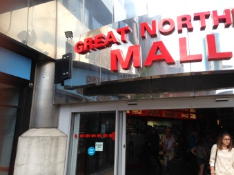 Outside the Great Northern Mall