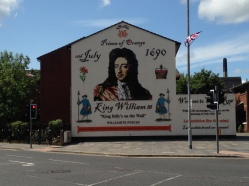 Loyalist mural celebrating William of Orange near City Center
