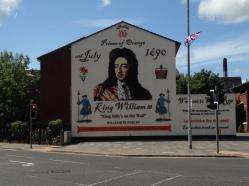 Loyalist mural celebrating William of Orange near City Center