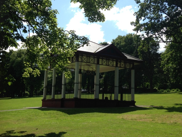 Shelter in Woodvale Park, the Shankill.