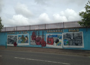 A mural on the Shankill side of the wall