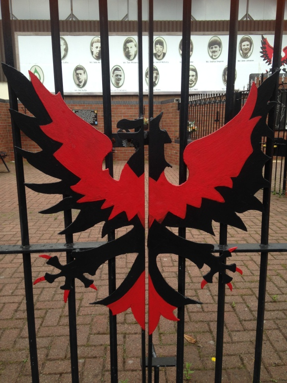 Phoenix rising at the Clonard Martyrs Memorial Garden