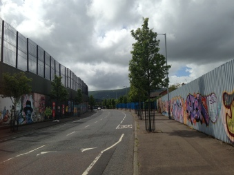 On the Shankill side of the peace wall