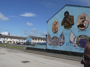 Murals in the Shankill; this one was removed before my 2016 visit.