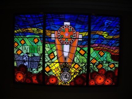 Stained glass window in the Museum of Orange Heritage, Belfast