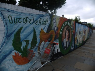 Mural commemorating the IRA in the Falls