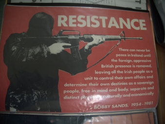 Poster in the Irish Republicann History Museum on the Falls Road