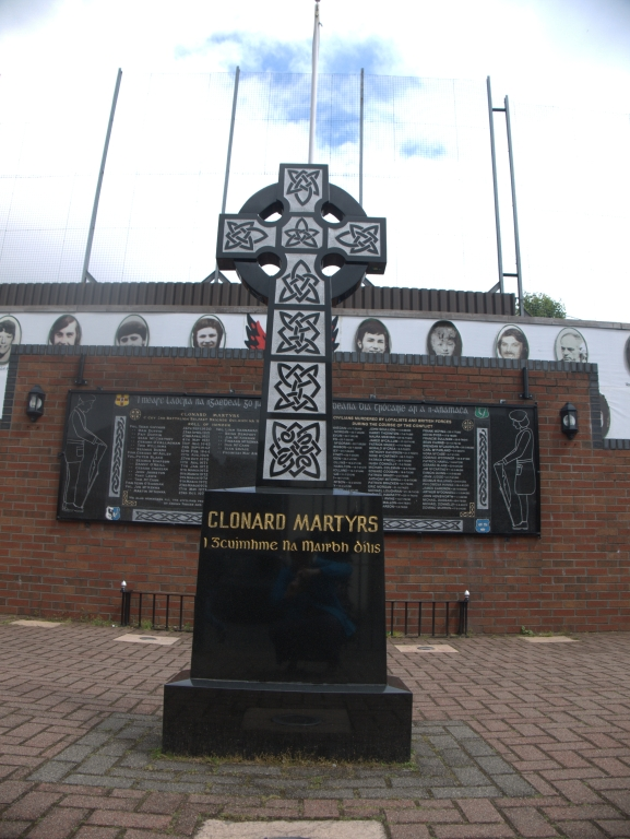 Clonard Martys Memorial garden in the Falls