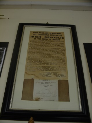 Irish Declaration of Independence, in the Irish Republican History Museum in the Falls