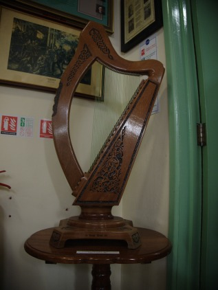 A harp carved by an IRA volunteer while in prison, in the Irish Republican History Museum